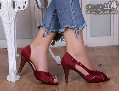 کفش مجلسی زنانه رنگی