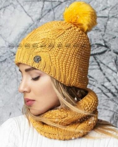 کلاه شال های بافتنی جدید دخترانه
