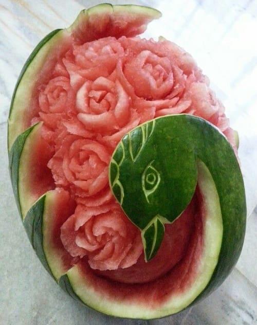 تزئین هندوانه