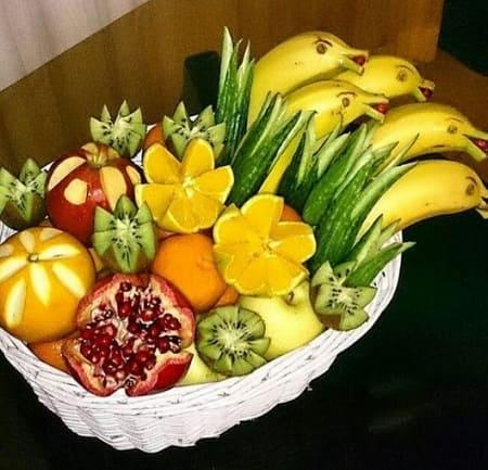 تزئین میوه های شب یلدا